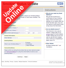 Smoking Status Questionnaire Online